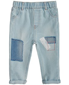 First Impressions Baby Girls Patchwork Jeans, Created for Macy's