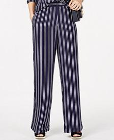 MICHAEL Michael Kors Railroad Striped Pants, Regular & Petite