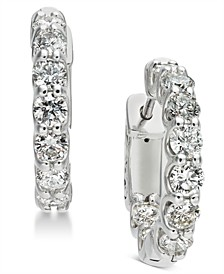 Diamond Hoop Earrings (1-3/4 ct. t.w.) in 14k White Gold