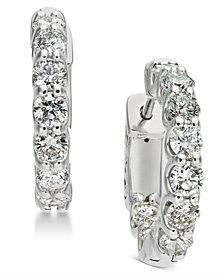 Diamond Hoop Earrings (1-3/4 ct. t.w.) in 14k White Gold