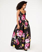 BCX Juniors  Floral-Print Ballgown 8b910e9670b9