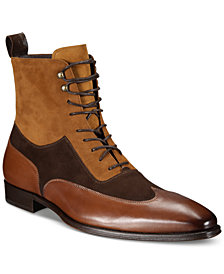 Mezlan Men's Tri-Tone Leather and Suede Boots