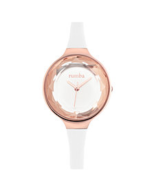 RumbaTime Orchard Gem Crystal Silicone Women's Watch