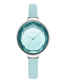 RumbaTime Orchard Gem Leather Women's Watch Sky
