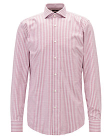 BOSS Men's Slim Fit Check Cotton Shirt