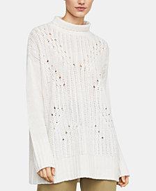 BCBGMAXAZRIA Sequinned Turtleneck Sweater