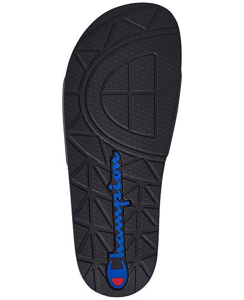 8fc76f7430d2 Champion Men s IPO Jock Slide Sandals from Finish Line   Reviews ...