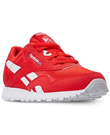Reebok Boys' Classic Nylon MU Casual Sneakers from Finish Line