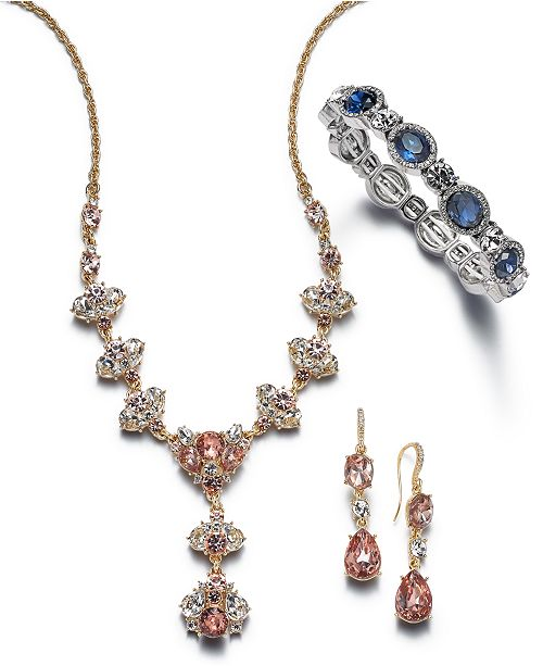 Charter Club Two-Tone Clear & Colored Crystal Jewelry Separates, Created for Macy's