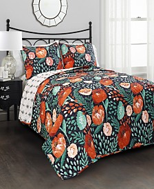 Poppy Garden 3-Pc. Quilt Sets