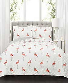 Kelly Flamingo 3-Pc. Quilt Sets