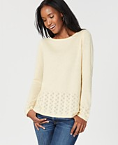 3a0845ea88 Charter Club Cashmere Pointelle-Detail Sweater