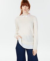 Charter Club Cashmere Layered-Look Sweater fadc4fd00