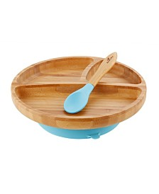Avanchy Bamboo Toddler Plate and Spoon