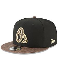 b68d08d4146 New Era Baltimore Orioles Gold Snake 9FIFTY Snapback Cap