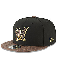 New Era Milwaukee Brewers Gold Snake 9FIFTY Snapback Cap