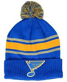 Authentic NHL Headwear St. Louis Blues Alternate Jersey Cuffed Pom Knit Hat