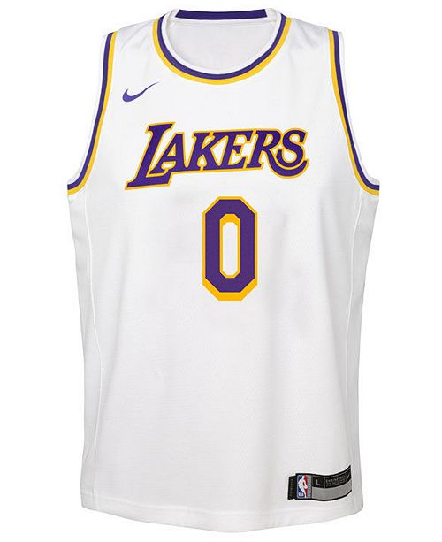 big sale d585b 6623e Nike Kyle Kuzma Los Angeles Lakers Association Swingman ...