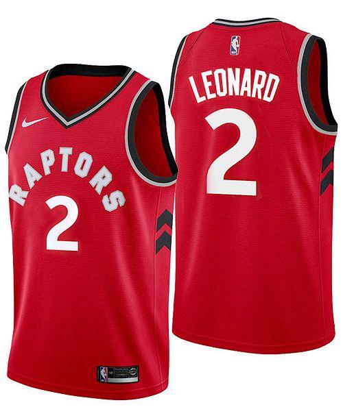 newest fd191 4ddbe Nike Men's Kawhi Leonard Toronto Raptors Icon Swingman ...