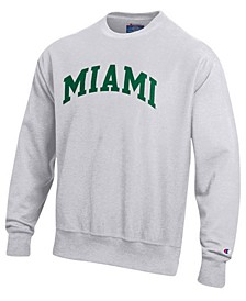 Men's Miami Hurricanes Reverse Weave Crew Sweatshirt
