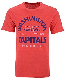 Authentic NHL Apparel Men's Washington Capitals Vintage Arch Tri-Blend T-Shirt