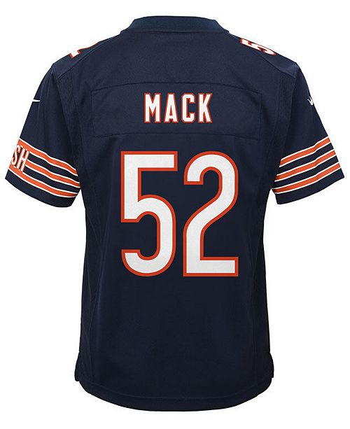 outlet store 0f6fc 1b368 Khalil Mack Chicago Bears Game Jersey, Toddler Boys (2T-4T)