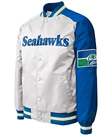 G-III Sports Men's Seattle Seahawks Starter Dugout Championship Satin Jacket