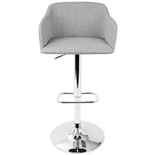 Lumisource Daniella Adjustable Barstool with Swivel in Light