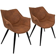 Wrangler Accent Chair in Rust Set of 2