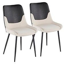 Lumisource Wayne TwoTone Chair Set of 2