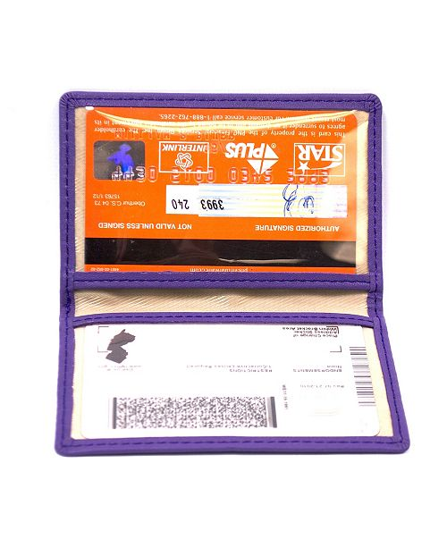 Royce Leather Royce Slim ID Credit Card Wallet in Genuine Leather