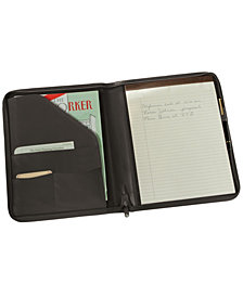 Royce Executive Zippered Writing Portfolio Organizer in Genuine Leather