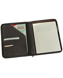 Royce Executive Zippered Writing Portfolio Organizer in Genuine Leather