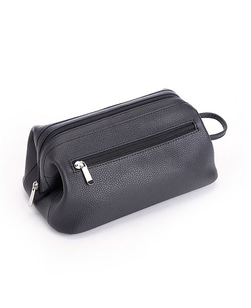 33863339018 Royce Leather Royce Toiletry Travel Wash Bag in Pebbled Genuine ...