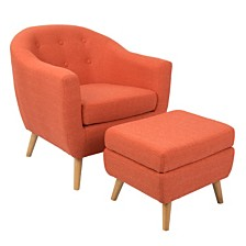 Lumisource Rockwell Accent Chair and Ottoman
