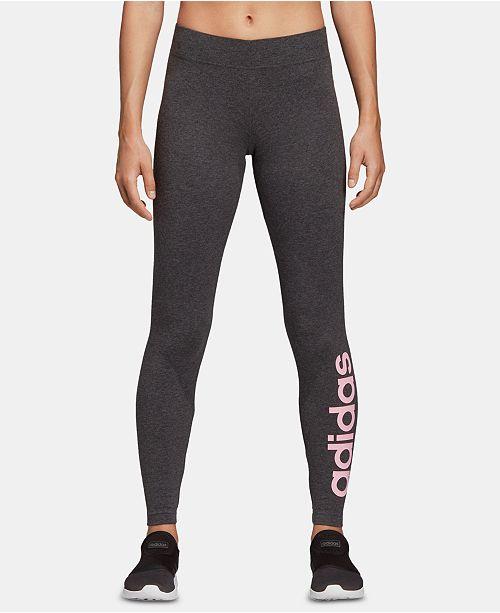 ddcb99993bc09 adidas Linear-Logo Leggings - Pants   Capris - Women - Macy s