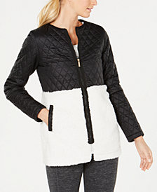 Calvin Klein Performance Plus Size Mixed-Media Jacket