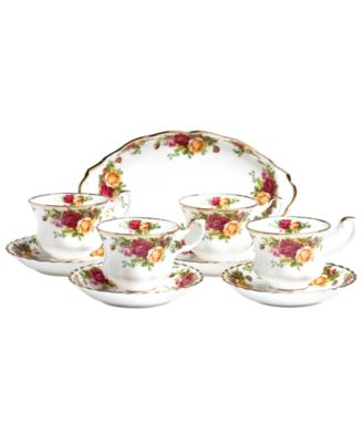 Old Country Roses 9 Piece Hostess Set