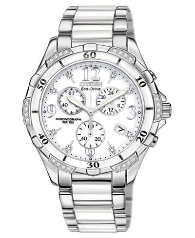 Citizen Women's Chronograph Eco-Drive Diamond Accent