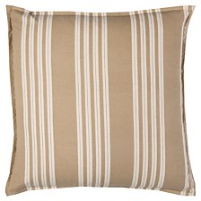 "Rizzy Home 18"" x 18"" Striped Pillow Cover"