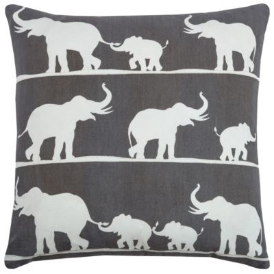 "18"" x 18"" Elephant Pillow Cover"