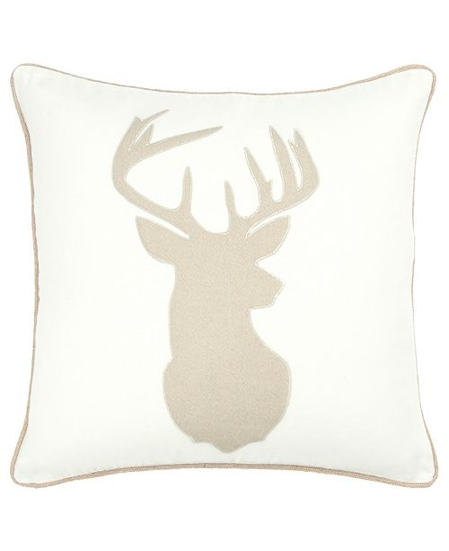 "Rizzy Home 18"" x 18"" Deer Head Pillow Collection"