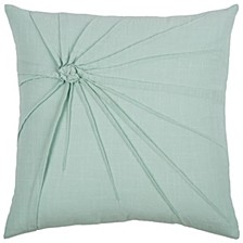 "18"" x 18"" Twisted Tacked Knot Pillow Cover"