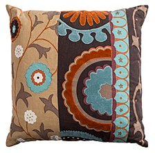 """20"""" x 20"""" Flourished Medallion Pillow Cover"""