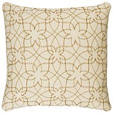 "Donny Osmond 20"" x 20"" Botanical Pillow Cover"