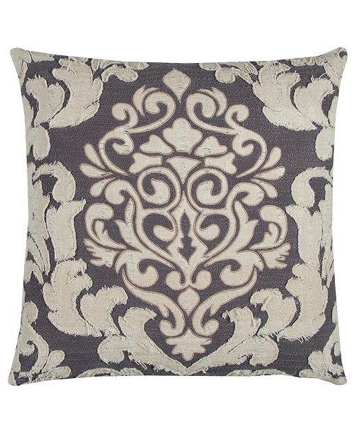 """Rizzy Home Donny Osmond 20"""" x 20"""" Floral Pillow Cover"""