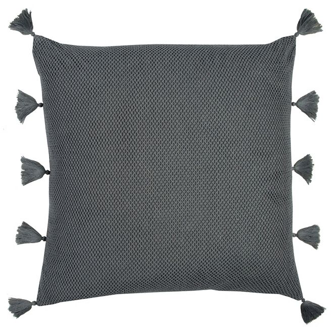 "Rizzy Home Solid 22"" x 22"" Textured Pillow Cover"