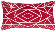 """Rizzy Home 14"""" x 26"""" Geometrical Design Pillow Cover"""