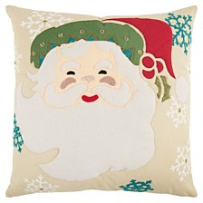 """Rizzy Home 20"""" x 20"""" Santa Clause Pillow Cover"""