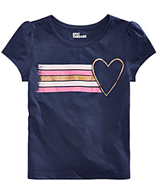 Epic Threads Little Girls Stripes & Heart Graphic T-Shirt, Created for Macy's